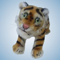 1950's Steiff Standing Bengal Tiger with Beautiful Airbrush
