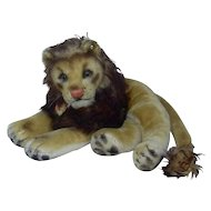 Large 1950's Steiff Laying Down Leo Lion