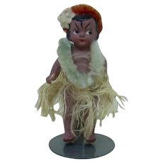 1920's-1930's Small Celluloid Japanese Hula Girl