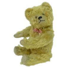 Early Schuco Yes-No Yellow Curly Mohair Bear