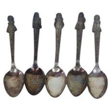 Dionne Quintuplets Silver Plate Spoon Set