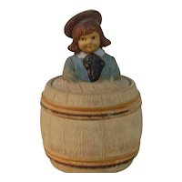 1900s Buster Brown Terra-cotta Tabacco Jar