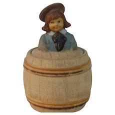 1900s Buster Brown Terra-cotta Tabacco Jar