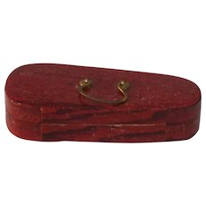 Beautiful Dresden Christmas ornament Violin Case with Violin Still in it. 1890s