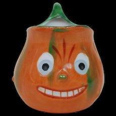 Vintage German Halloween Pumpkin-ware creamer pitcher , mint