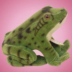 4 inch 1950s Velveteen Steiff Froggy Frog near Mint