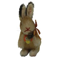 1950s Steiff Manni Rabbit. Smallest and cutest size.