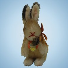 1950s Steiff Manni Rabbit. Smallest and cutest size.