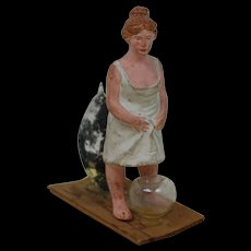 Victorian Paper Mache Naughty PeePee girl very early