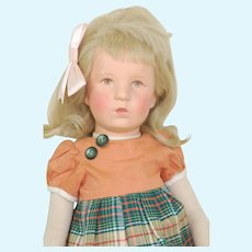 Kathe Kruse Doll VIII German Child Turning Head 19 inches