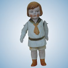 7 Inch Molded Clothes All Bisque Hertwig Doll