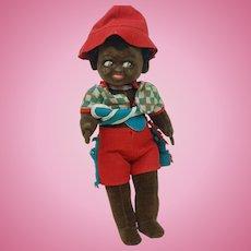 """Lovely English Alpha Farnell 15"""" Velvet Black Doll Original"""