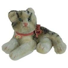 1950s Steiff Fiffy Cat with Chest Tag Original bow