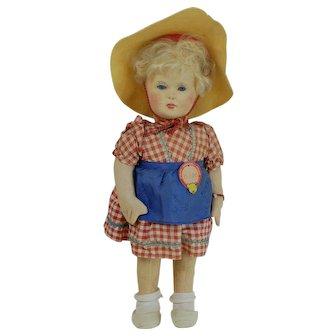 Rare near Mint Steiff Hilde Doll  All ID 1939