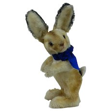1950s Large Standing Steiff Easter Bunny w RSB  Button