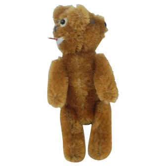 3.5 inch 1940s US Zone Germany Schuco two faced Janus Teddy Bear.
