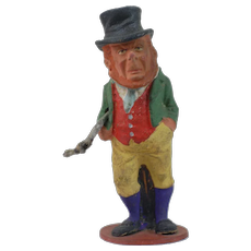 Early Paper Mache St. Pattys' Day Leprechaun Candy Container