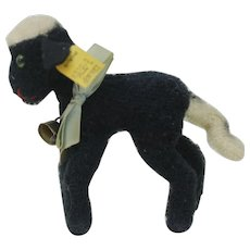 1950s Steiff Black Lamby with White Tail.