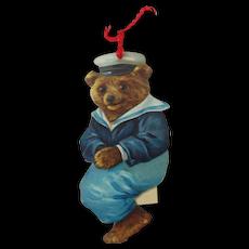 "1890s-1910s Raphael Tuck Die-cut ""sailor Bear"" Image"
