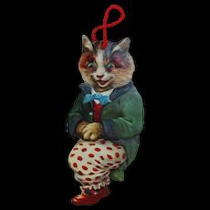 "1890s-1910s Raphael Tuck Die-cut ""Happy Cat"" Image"