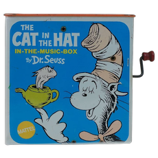 1970s Cat in the Hat Jack-in-a-box by Mattel