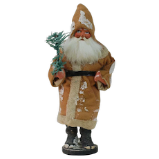 1890's German Stuff Hat Santa