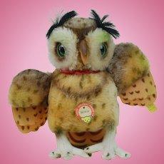 1950's Steiff Wittie Owl Plush
