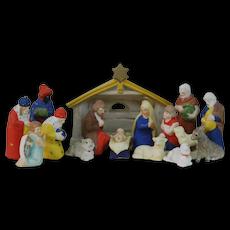 1900's German Bisque Nativity Scene Figure Set