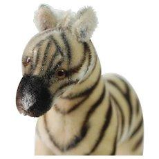 """1950's Steiff 10"""" Tall Zebra Plush"""