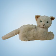 1930's Knickerbocker Plush Cat Overnight Bag