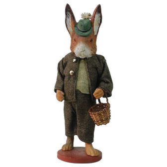 1890's Paper Mache Candy Container Rabbit