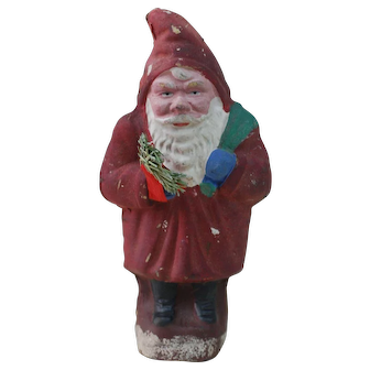 1920's Cardboard German Belsnickle Santa