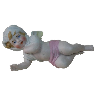 1890's German Porcelain Angel Figure.