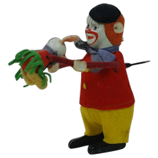 1920's-30's Schuco Wined-up Clown and Mouse