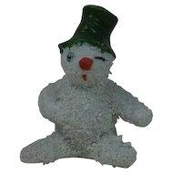 1910's-20's German Snow Baby Snowman Cake Topper