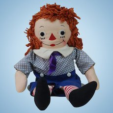 1950's Raggedy Andy Cloth Doll by Georgene Novelties