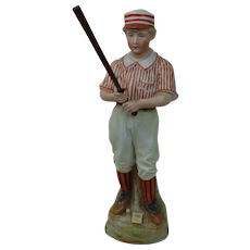 Heubach Bisque Porcelain Figure Baseball Player