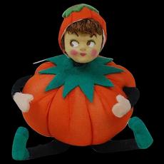 1940's-50's Halloween Pumpkin People with Brown Hair