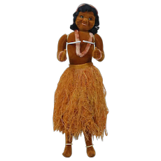 1930's-40's Velvet Hawaiian Doll