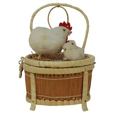 1930's Easter Wicker Candy Container Chair