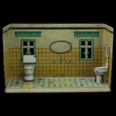 1920's German Metal Doll House Room Bathroom