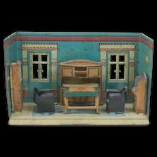 1920's German Metal Doll House Room Living Space