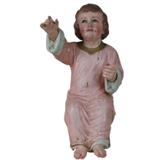 1850's Antique Crech Baby Jesus for Nativity Scene