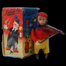 1956 Schuco Mechanical Fiddling Monkey
