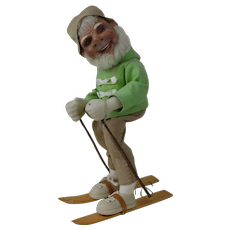1930's-40's Large Skiing Elf