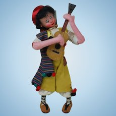 1960's Klumpe Doll Playing Guitar 104