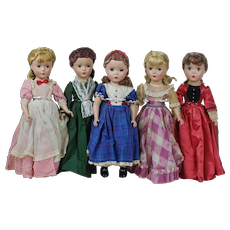 1950's Louisa M. Alcott's Little Women Doll Collection by Madame Alexander