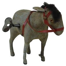 1930's Mechanical Wind-Up Toy Donkey
