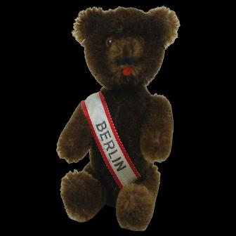 "1960's Schuco 5"" Berlin Yes Chocolate Bear"