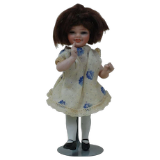 1920's Rare Orcini Bisque Doll with Glass Sleep Eyes